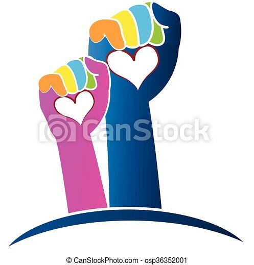 Hands logo - csp36352001