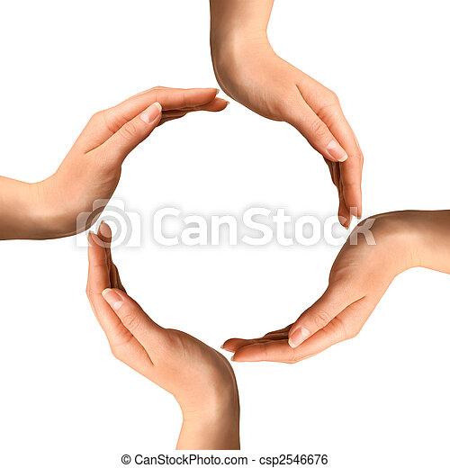 Hands Making a Circle - csp2546676