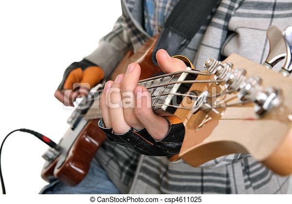 Hands of a rock musician  - csp4611025