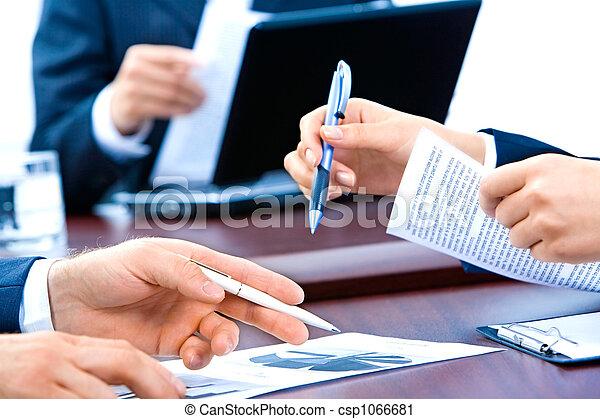 Hands of business people - csp1066681