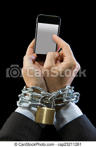 Image result for Images cell phone a chain in man's hand
