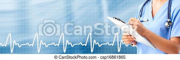Hands of medical doctor. - csp16861865