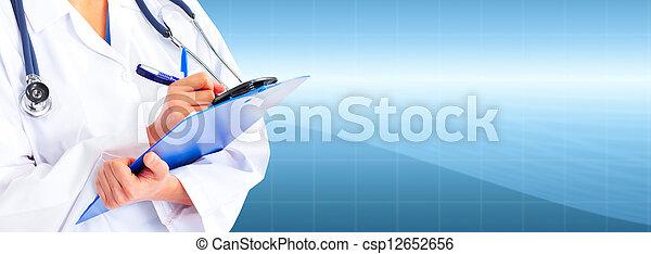 Hands of medical doctor. - csp12652656