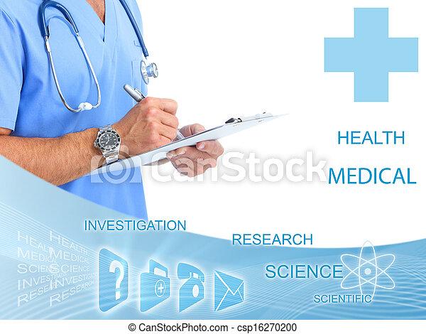 Hands of medical doctor. - csp16270200
