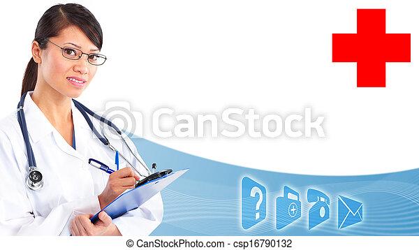 Hands of medical doctor. - csp16790132