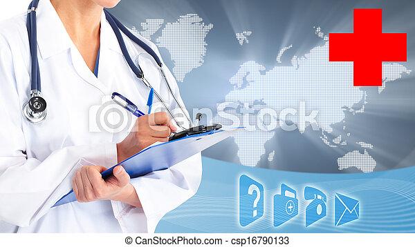 Hands of medical doctor. - csp16790133