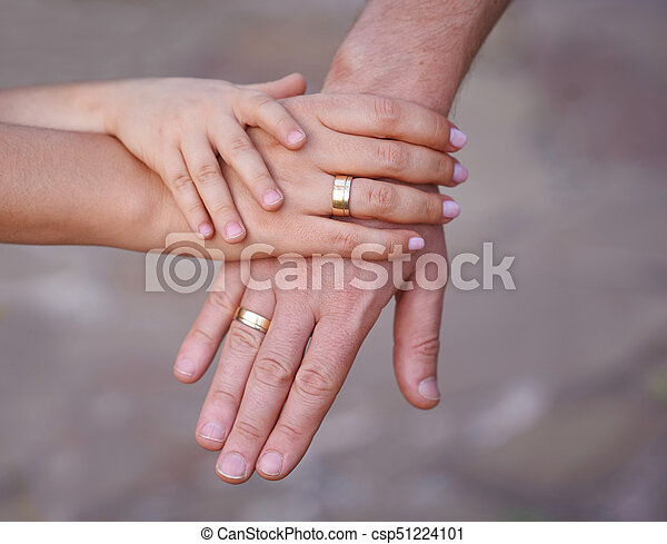 Hands Of Mother Father And Little Baby Concept Of Unity Support