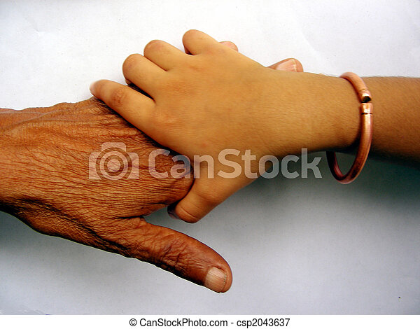 Hands of two generations - csp2043637