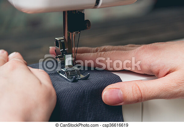 Hands Of Young Girl On Sewing Machine Hands Of A Young Girl On A Inspiration Hands Free Sewing Machine