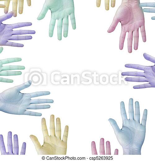 Hands on white. - csp5263925