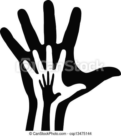 Ich helfe den Händen. Vector Illustration - csp13475144