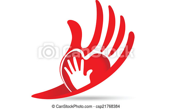 hands protective love concept logo hands protective concept rh canstockphoto com free vector hands shaking free vector hands shaking