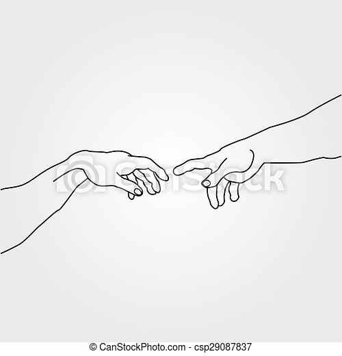Hands showing the creation of Adam - csp29087837