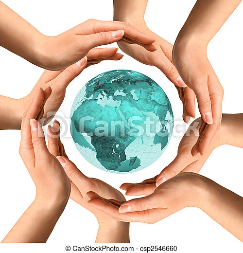 Hands  Surrounding the Earth - csp2546660