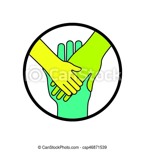Hands Symbol Of Family And Togetherness Concept Vector Design