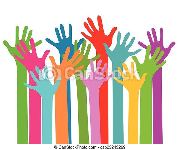 hands together - csp23243269
