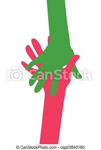 hands together - csp23840160