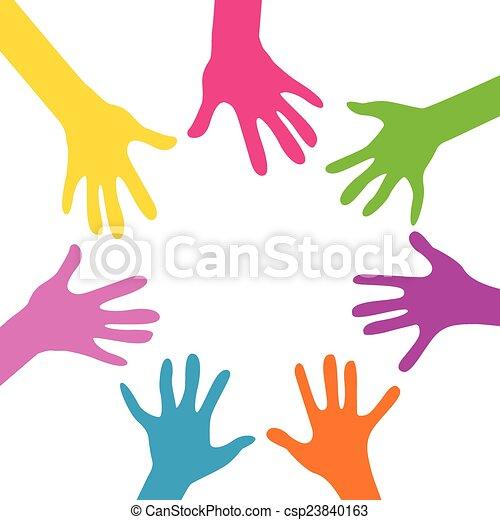 hands together - csp23840163