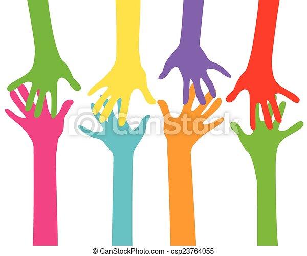 hands together - csp23764055