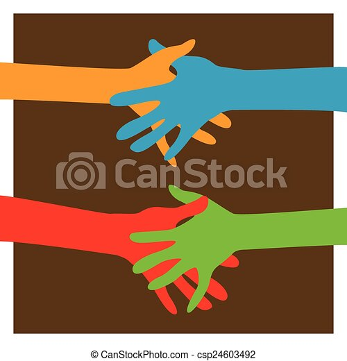 hands together - csp24603492