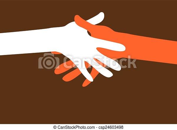 hands together - csp24603498