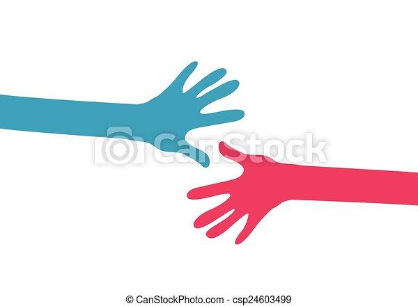 hands together - csp24603499