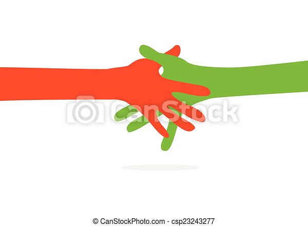 hands together - csp23243277