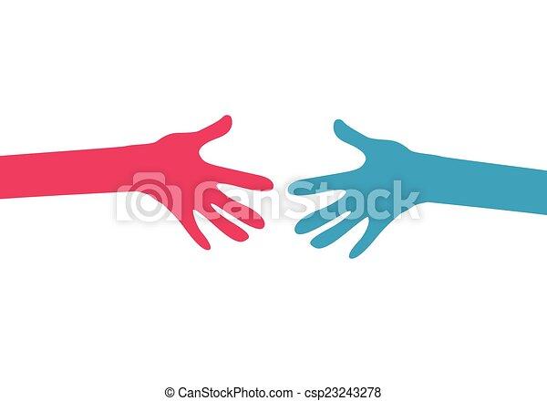 hands together - csp23243278