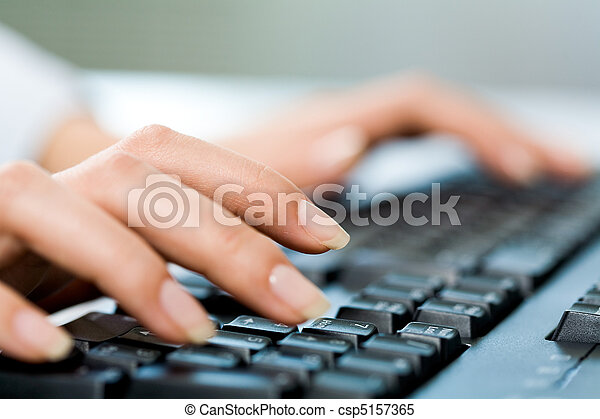 Hands typing - csp5157365