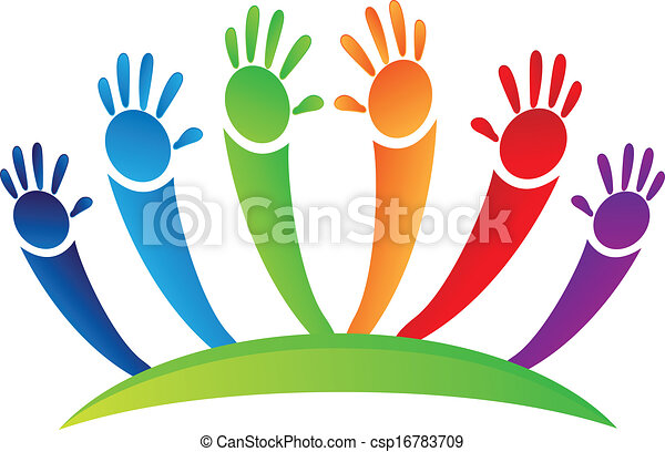 Hands up team logo - csp16783709