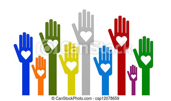 Hands with love - csp12078659