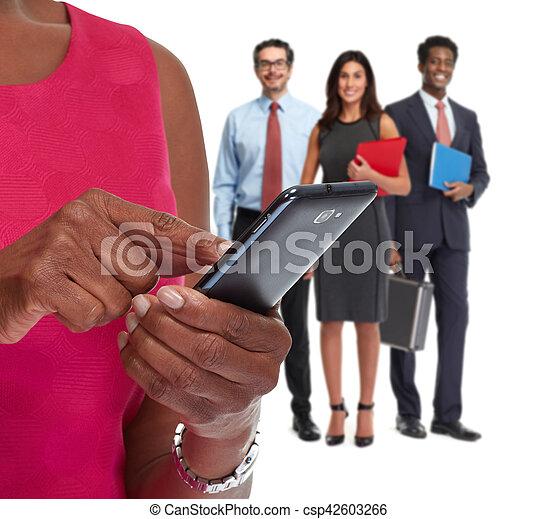 Hands with smartphone. - csp42603266