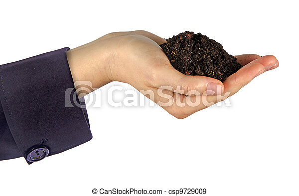 Hands with soil - csp9729009