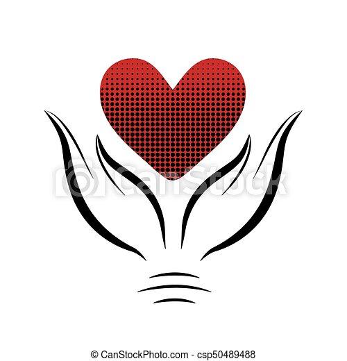 hands8, hjärta - csp50489488