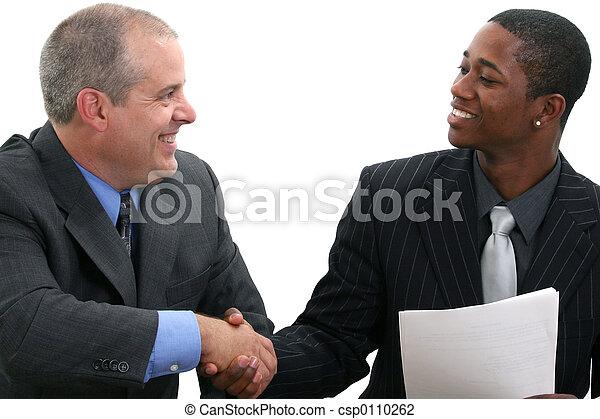 handshak, hombres de negocios - csp0110262