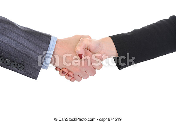 Handshake  business partners   - csp4674519