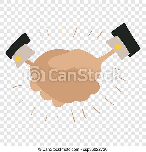 Handshake cartoon illustration - csp36022730