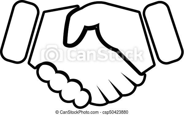 handshake ice hockey icon outline style handshake ice vector rh canstockphoto com