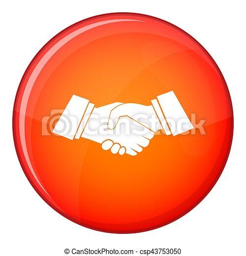 Handshake icon, flat style - csp43753050