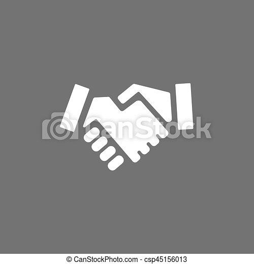 Handshake icon on a dark background - csp45156013