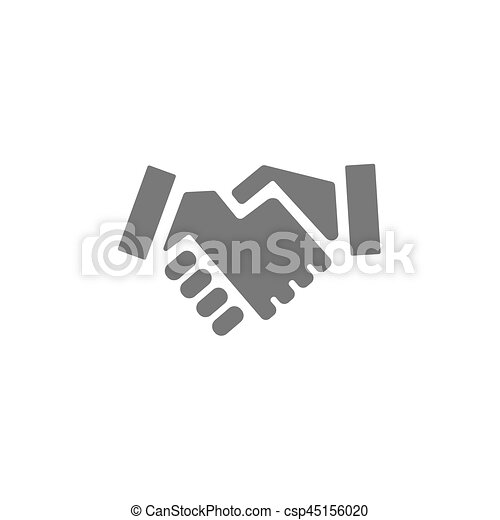 Handshake icon on a white background - csp45156020