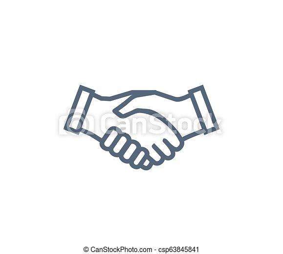 Handshake Icon Symbol Of Collaboration Partnership Handshake Icon Symbol Of Collaboration And Partnership Agreement And
