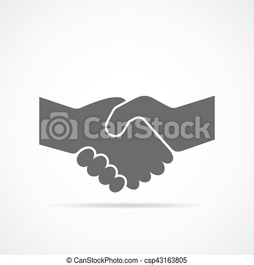 Handshake icon. Vector illustration. - csp43163805