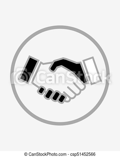 business handshake solid icon contract and agreement vector graphics