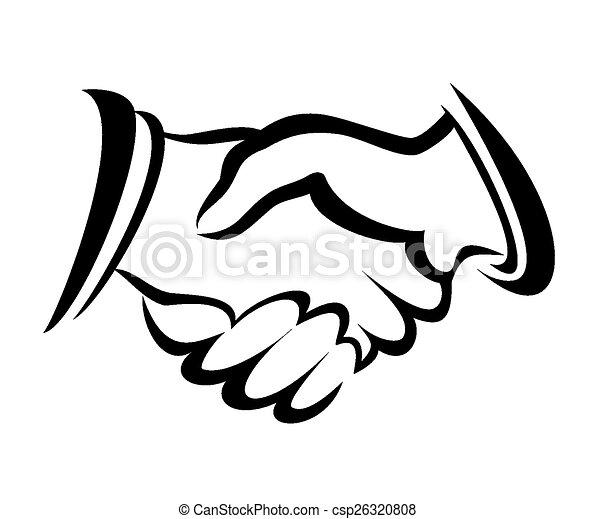 handshake symbol vector sketch in simple lines rh canstockphoto com handshake vector icon free handshake vector logo