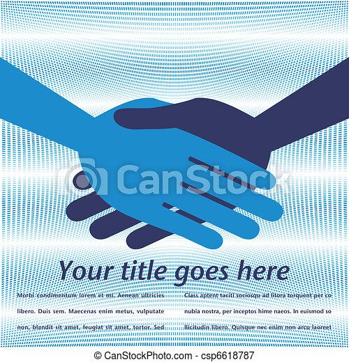 Handshake symmetry.  - csp6618787