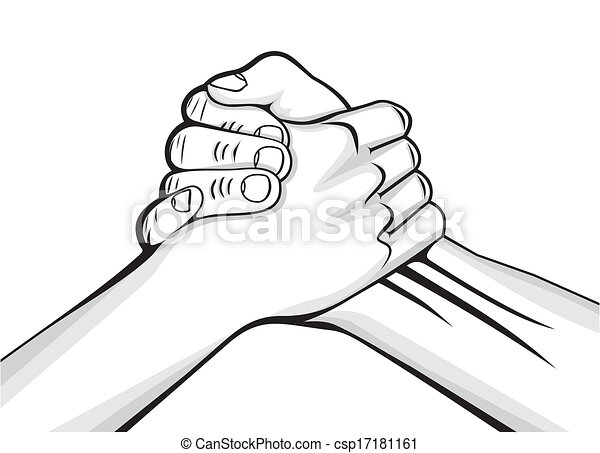 handshake two male hands  - csp17181161