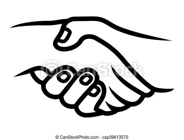 Handshake Vector Icon Vector Illustration Of The Handshake Icon