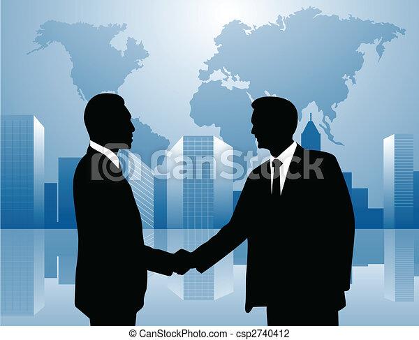 Handshake Vector Image - csp2740412