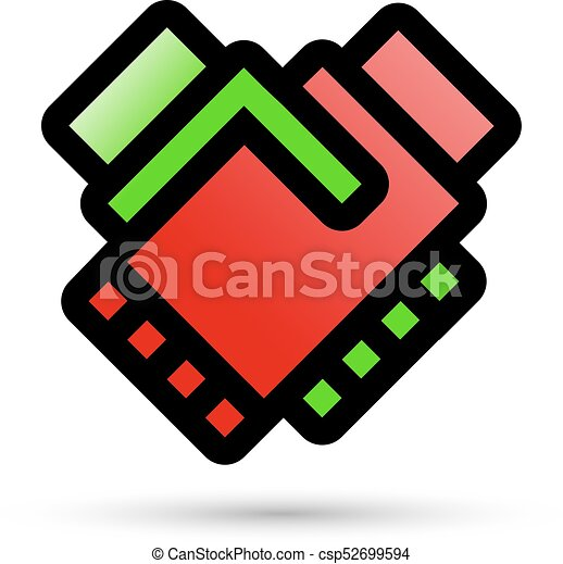 handshake with linear flat icon conclusion of the contract funny rh canstockphoto com